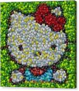 Hello Kitty Mm Candy Mosaic Canvas Print