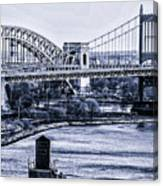 Hells Gate Bridge Triborough Bridge  Canvas Print
