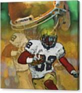 Helmet N Halfback Canvas Print