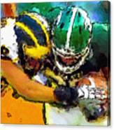 Helmet To Helmet Canvas Print