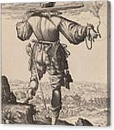 Helmeted Musketeer Canvas Print