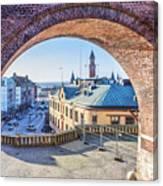 Helsingborg Through The Archway Canvas Print