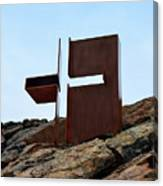 Helsinki Rock Church Cross Canvas Print
