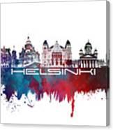 Helsinki Skyline City Blue Canvas Print