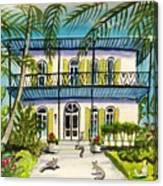 Hemingway's Home Key West Canvas Print