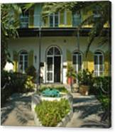 Hemingways House Key West Canvas Print