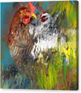 Hen Love Canvas Print