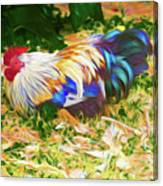 Hen With Chick Canvas Print