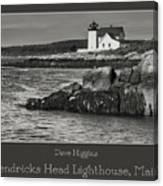 Hendricks Head Lighthouse, Maine Canvas Print