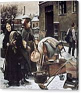 Henningsen  Evicted 1890 Canvas Print