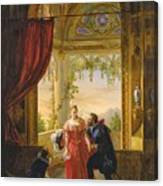 Henri Iv And His Mistress Canvas Print