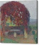 Henri Jean Guillaume Martin 1860 - 1943 The Bower Flowers Canvas Print