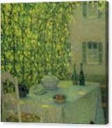 Henri Le Sidaner 1862 - 1939 The Village Table Gerberoy Canvas Print
