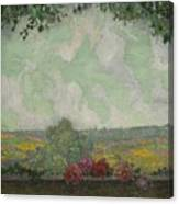 Henri Le Sidaner 1862 - 1939 View From The Terrace Canvas Print