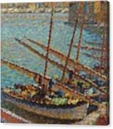 Henri Martin 1860 - 1943 Boats To Collioure Canvas Print