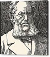 Henrik Ibsen, Norwegian Playwright Canvas Print