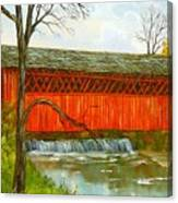 Henry Bridge Vt. Canvas Print