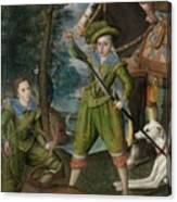 Henry Frederick 15941612 Prince Of Wales With Sir John Harington 15921614 In The Hunting Field Canvas Print