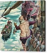 Henry Hudson Being Set Adrift Canvas Print