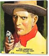 Henry Starr In A Debtor To The Law 1919 Canvas Print