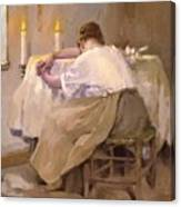 Her First Born 1888 Canvas Print