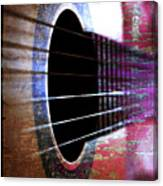 Her Old Guitar Canvas Print