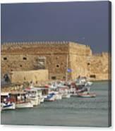 Heraklion Castle Crete Greece Canvas Print