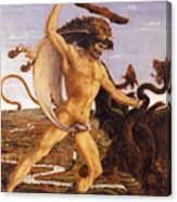 Hercules And The Hydra Canvas Print