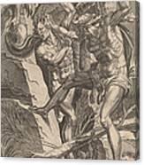 Hercules Killing Cacus Canvas Print