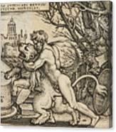Hercules Killing The Nemean Lion Canvas Print