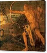 Hercules Kills The Symphalic Bird 1520 Canvas Print