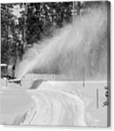 Here Comes That Snowblower Again Canvas Print