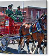 Here Comes The King-budweiser Clydesdales Canvas Print