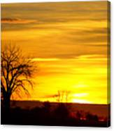 Here Comes The Sunrise Canvas Print