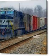 Here Comes The Train Canvas Print