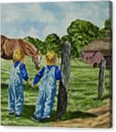 Here Horsey Horsey Canvas Print