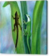 Here Lizard Lizard Canvas Print