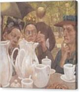 Here The Family Can Make Coffee Canvas Print