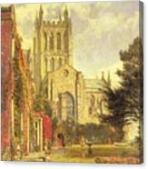 Hereford Cathedral Canvas Print