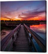 Heritage Boardwalk Twilight - Square Canvas Print