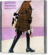 Hermann Scherrer Sporting Tailor - Munich, Germany - Vintage Advertising Poster Canvas Print