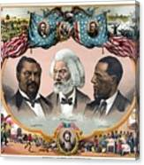 Heroes Of African American History - 1881 Canvas Print