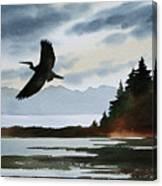 Heron Silhouette Canvas Print