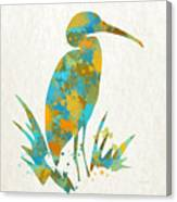 Heron Watercolor Art Canvas Print