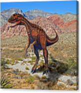Herrarsaurus In Desert Canvas Print