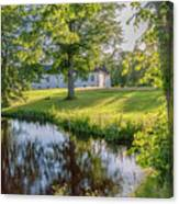 Herrevads Kloster By The Riverside Canvas Print