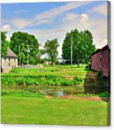 Herr's Grist Mill And Covered Bridge Canvas Print