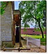 Herr's Mill And Covered Bridge 2 Canvas Print
