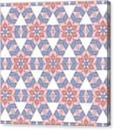 Hexagonal Flower Pattern Canvas Print