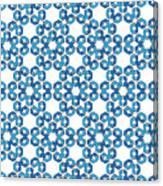 Hexagonal Snowflake Pattern Canvas Print